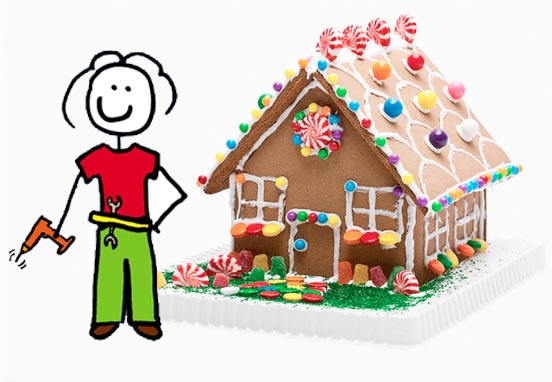 Structuring a speech is like piecing together a gingerbread house